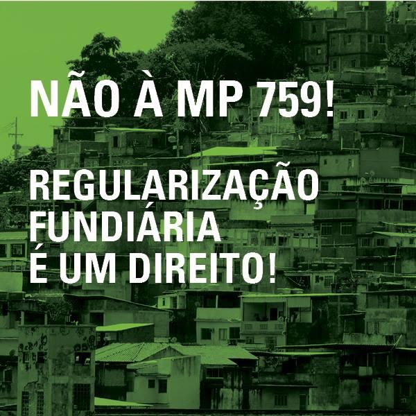 NÃO A MP 759/2016