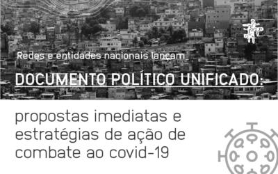 DOCUMENTO POLÍTICO: ESTRATÉGIAS DE AÇÃO DE COMBATE AO COVID-19